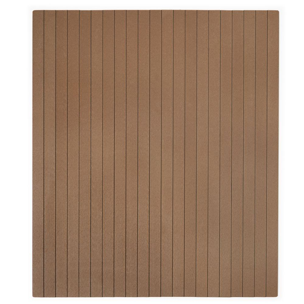 Natural Composite 36 in. x 48 in. Chair Mat with No