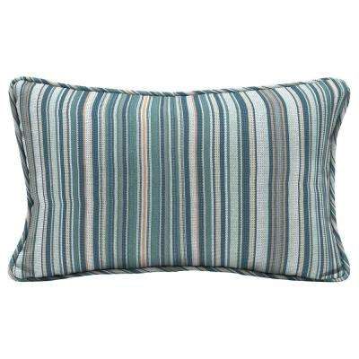 Charleston Stripe Lumbar Outdoor Throw Pillow