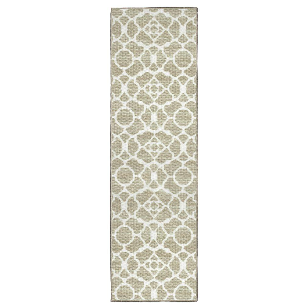 Structures Kohl Beige 1 Ft 8 In X 5 Ft Accent Rug