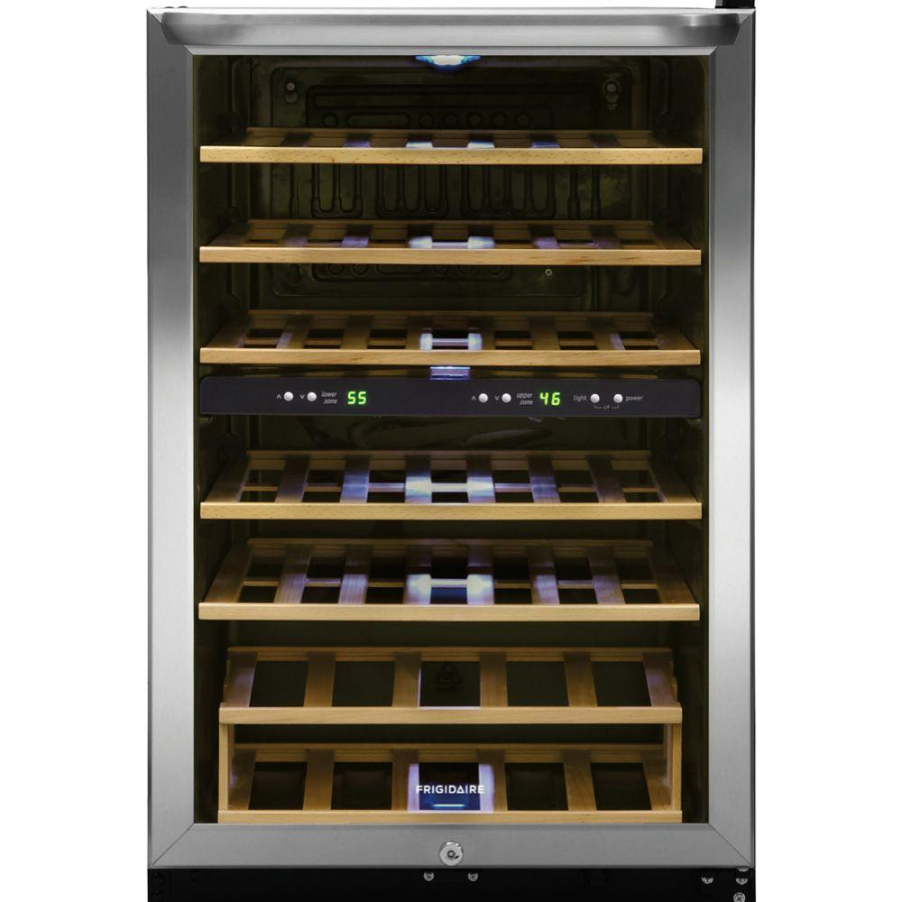 Frigidaire 38-Bottle Wine Cooler with 2 Temperature Zones in Stainless Steel  sc 1 st  Home Depot & Frigidaire 38-Bottle Wine Cooler with 2 Temperature Zones in ...