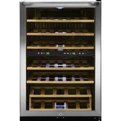 38-Bottle Wine Cooler with 2 Temperature Zones in Stainless Steel