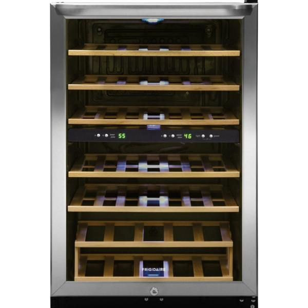 Frigidaire 38-Bottle Wine Cooler with 2 Temperature Zones in Stainless Steel