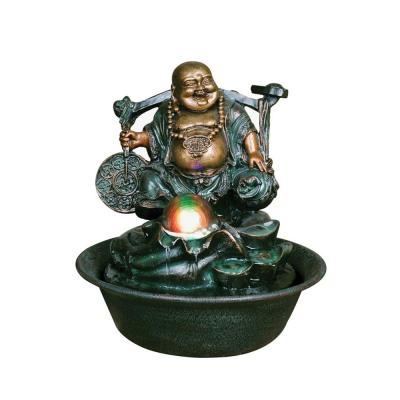 Lucky Buddha with Spinning Ball Fountain