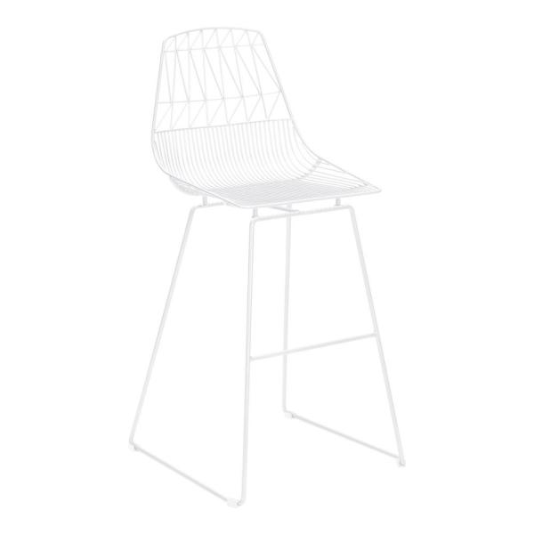 Brody White Metal Outdoor Bar Stool (2-Pack)