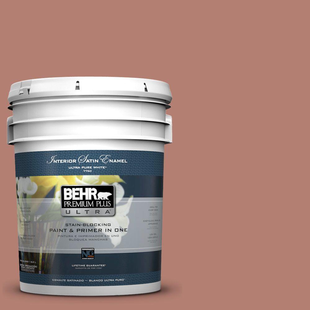 Behr Premium Plus Ultra 5 Gal Icc 102 Copper Pot Satin Enamel Interior Paint And Primer In One