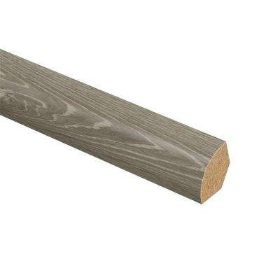 Sterling Oak 5/8 in. Thick x 3/4 in. Wide x 94 in. Length Vinyl Quarter Round Molding