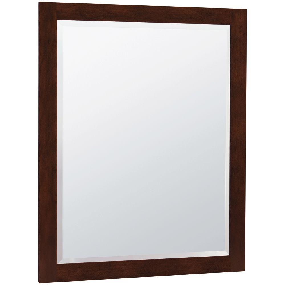MasterBath 32 in. L x 26 in. W Wall Mirror in Java