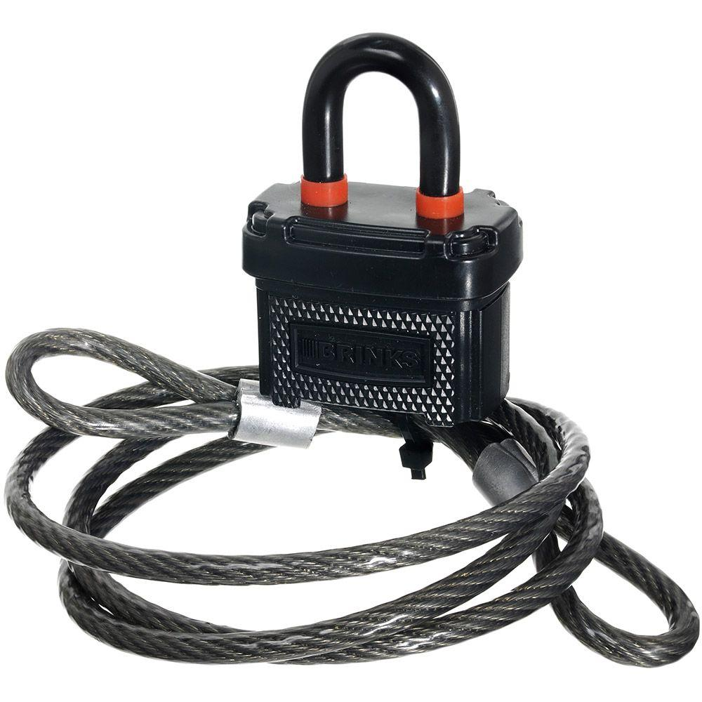 Brinks 4 Ft Cable With 40 Mm Sure Grip Lock 175 25481