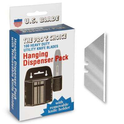 Heavy Duty Utility Blades Plastic Dispenser Carded (100-Pack)