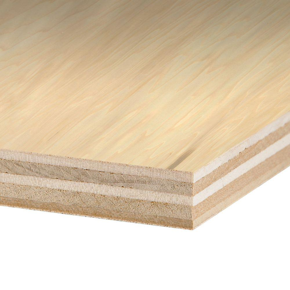 Columbia Forest Products 23 32 In X 4 Ft X 8 Ft Purebond Poplar Plywood 770579 The Home Depot
