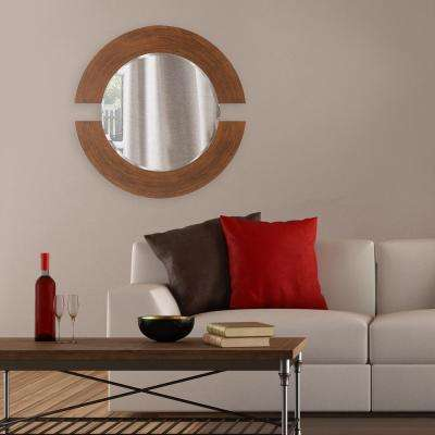 38 in. H x 38 in. W Round Orbit Burnished Copper Mirror