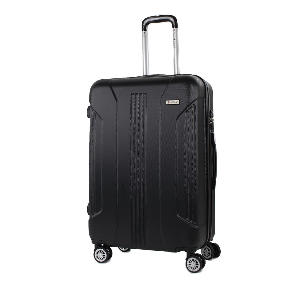 Sierra Black 26 in. Expandable Hardside Spinner Luggage with TSA Lock