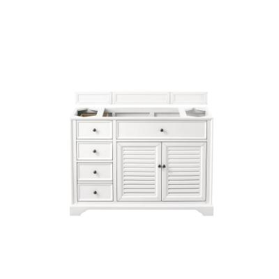 Savannah 48 in. Single Bath Vanity Cabinet Only in Bright White
