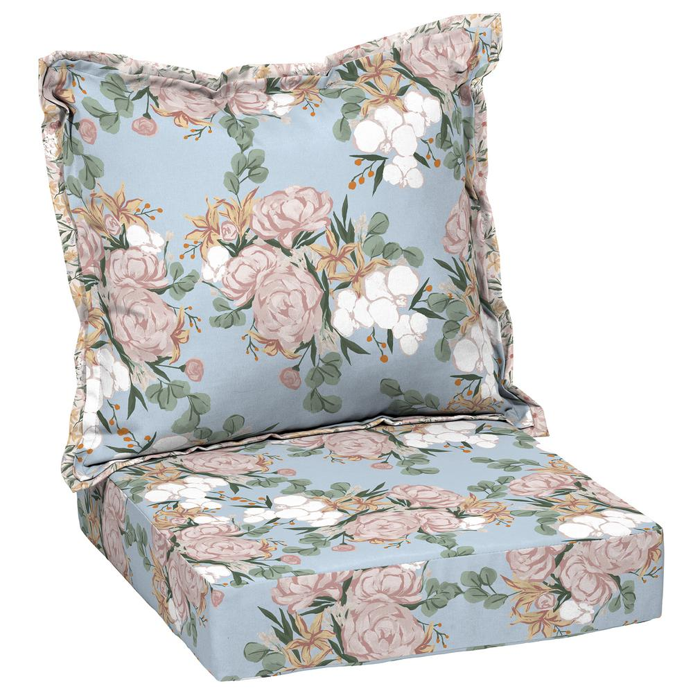 Arden Selections Artisans 45 In X 24 In Giana Floral Deep Seating