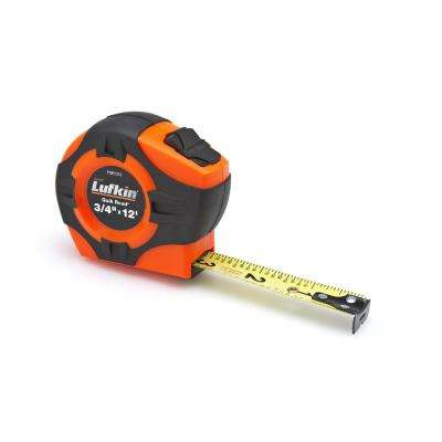 1 in. x 25-ft. Quikread Power Return Yellow Clad Tape Measure