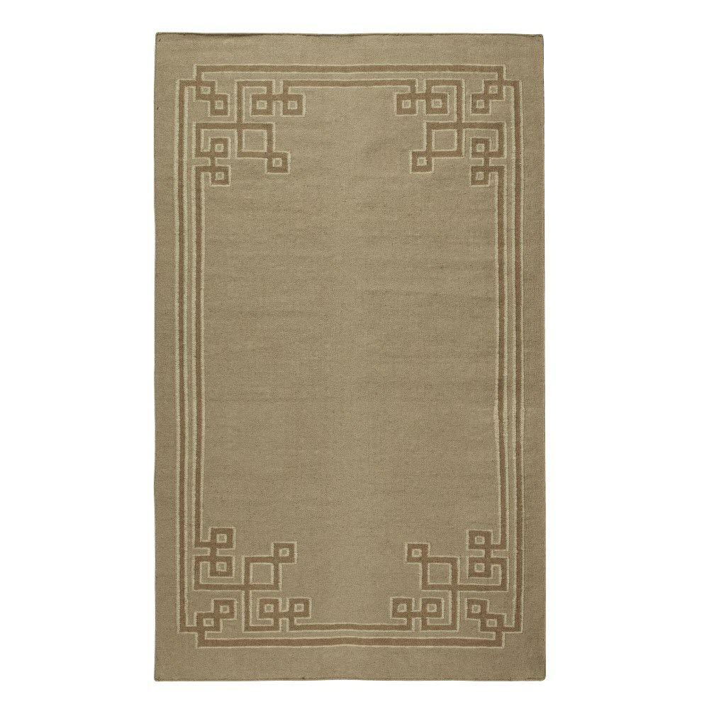 Home Decorators Collection Keys Chocolate 8 ft. x 11 ft. Area Rug