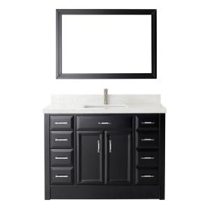 Calais 48 In. W X 22 In. D Vanity In Espresso With Engineered Marble · Studio  Bathe ...