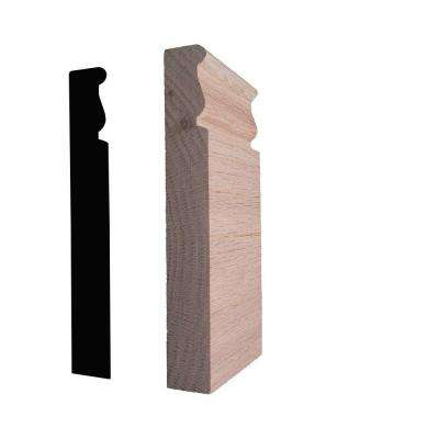 7/8 in. x 2-3/4 in. x 6 in. Oak Plinth Block Moulding