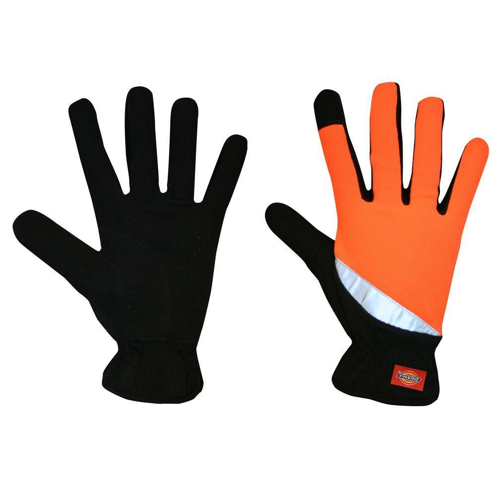 Dickies Medium ToughTask Hi-Vis Orange Slip-On Activity Glove