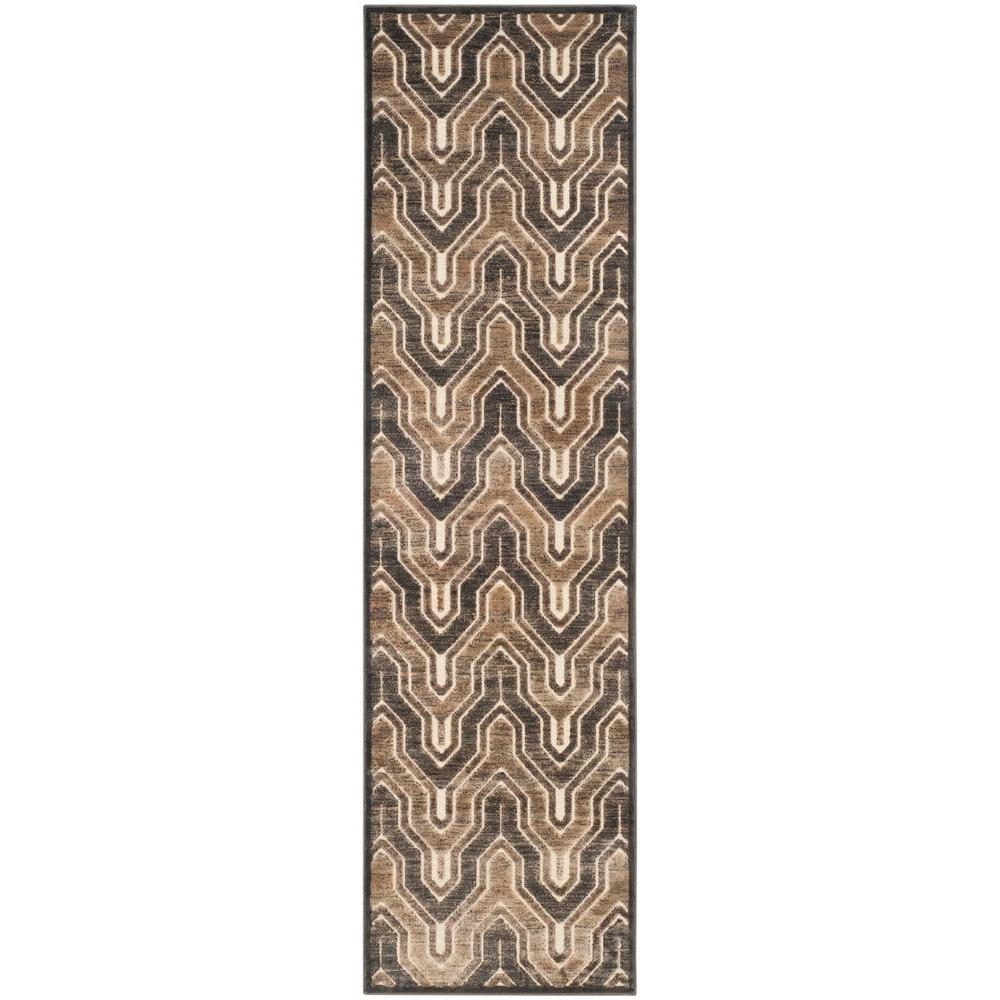 Safavieh Paradise Soft Anthracite/Cream 2 ft. 2 in. x 8 ft. Runner