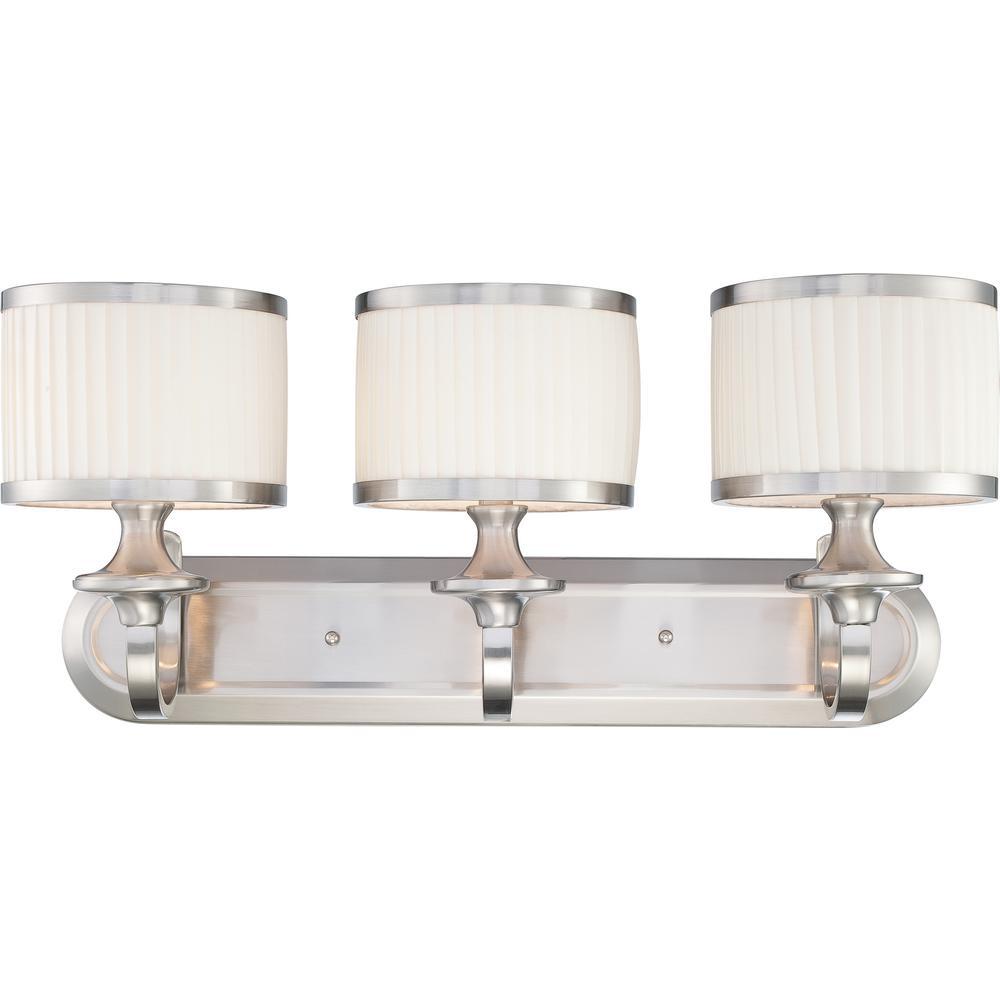 Maxwell 3-Light Brushed Nickel Bath Vanity Light