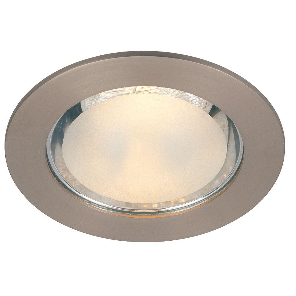 Commercial electric 4 in brushed nickel shower recessed lighting brushed nickel shower recessed lighting trim aloadofball Choice Image