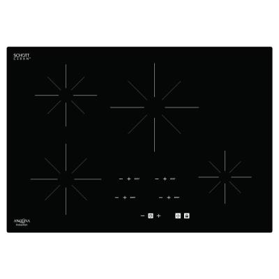 Chef 30 in. Glass-Ceramic Induction Cooktop in Black with 4 Elements Featuring Individual Boost Function