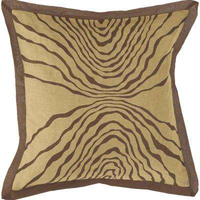 Abstract C 18 in. x 18 in. Decorative Down Pillow