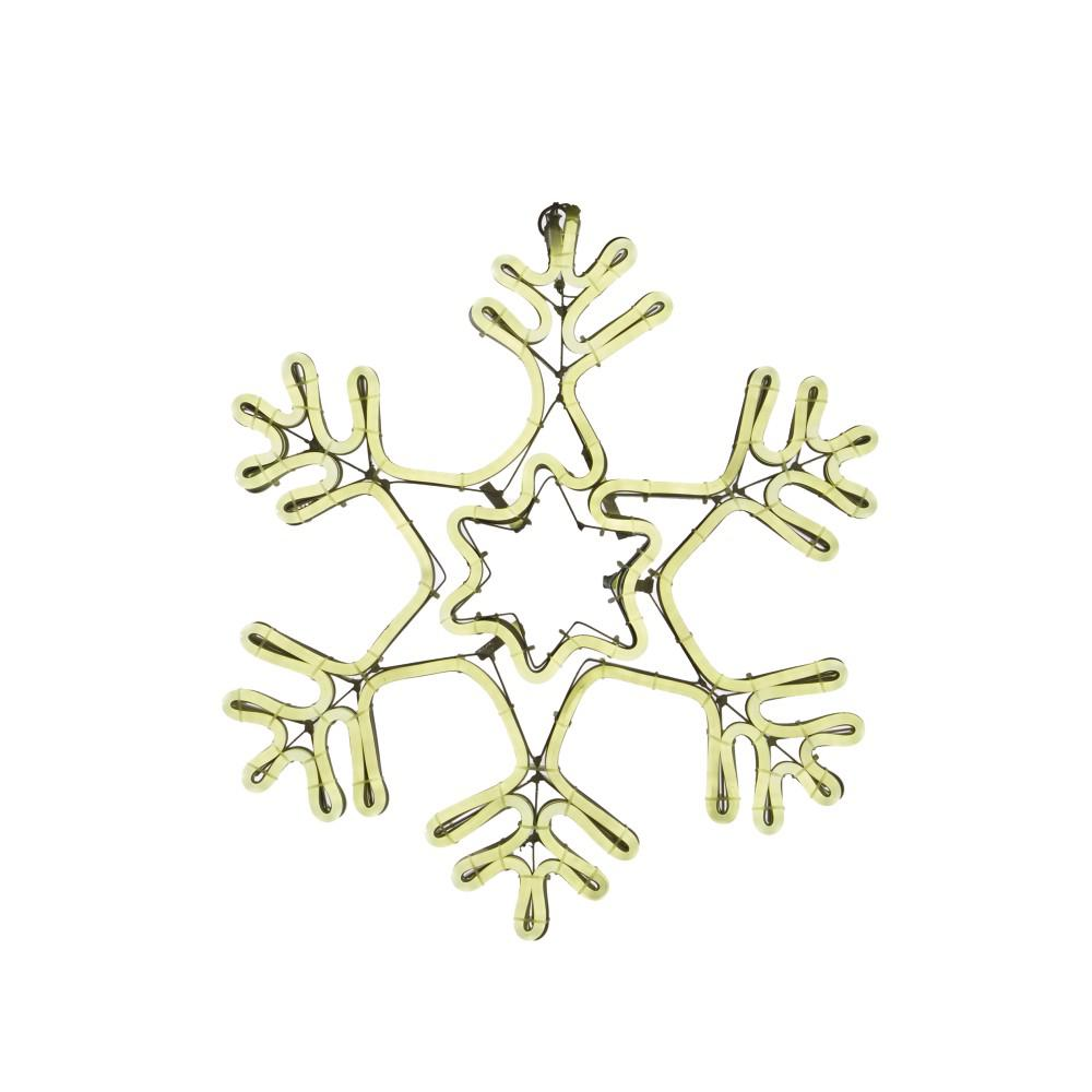 9 ft. Warm White Outdoor Lighted 18i in.Snowflake