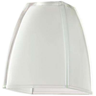 6 in. Glazed Ice Cubic Dome Shade with 2-1/4 in. Fitter and 5 in. Width
