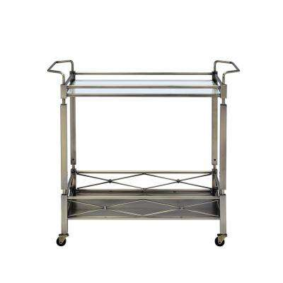 Matiesen Antique Brass Serving Cart
