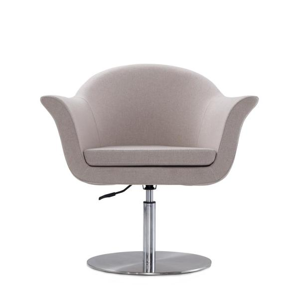 CEETS Barley Gray Voyager Adjustable Swivel Accent Chair AC051-BA