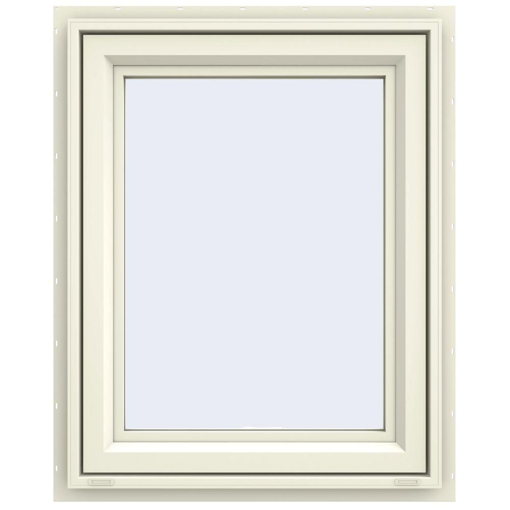 JELD-WEN 23.5 in. x 29.5 in. V-4500 Series Awning Vinyl Window - Yellow