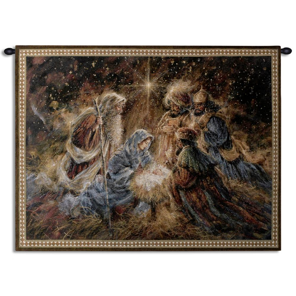 We Three Kings Woven Wall Tapestry