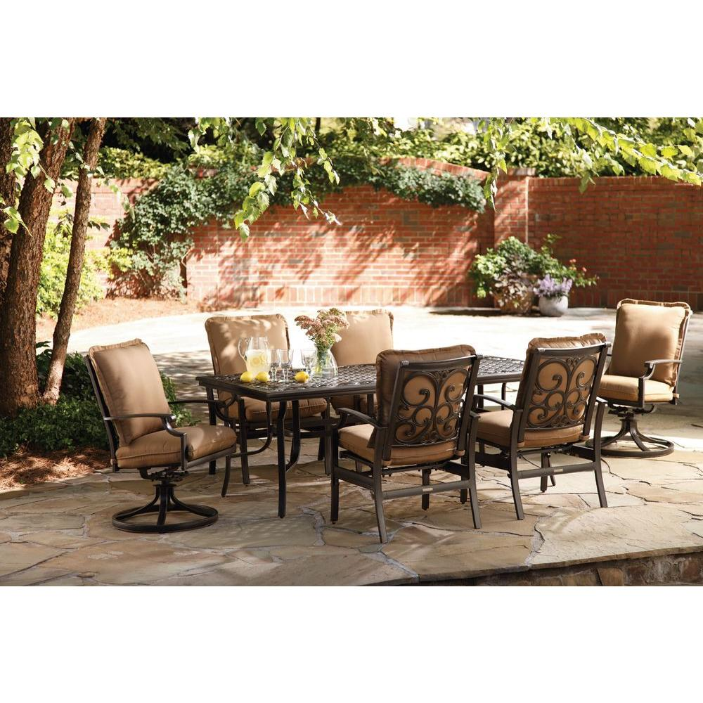 Thomasville Messina 7-Piece Patio Dining Set with Cocoa Cushions
