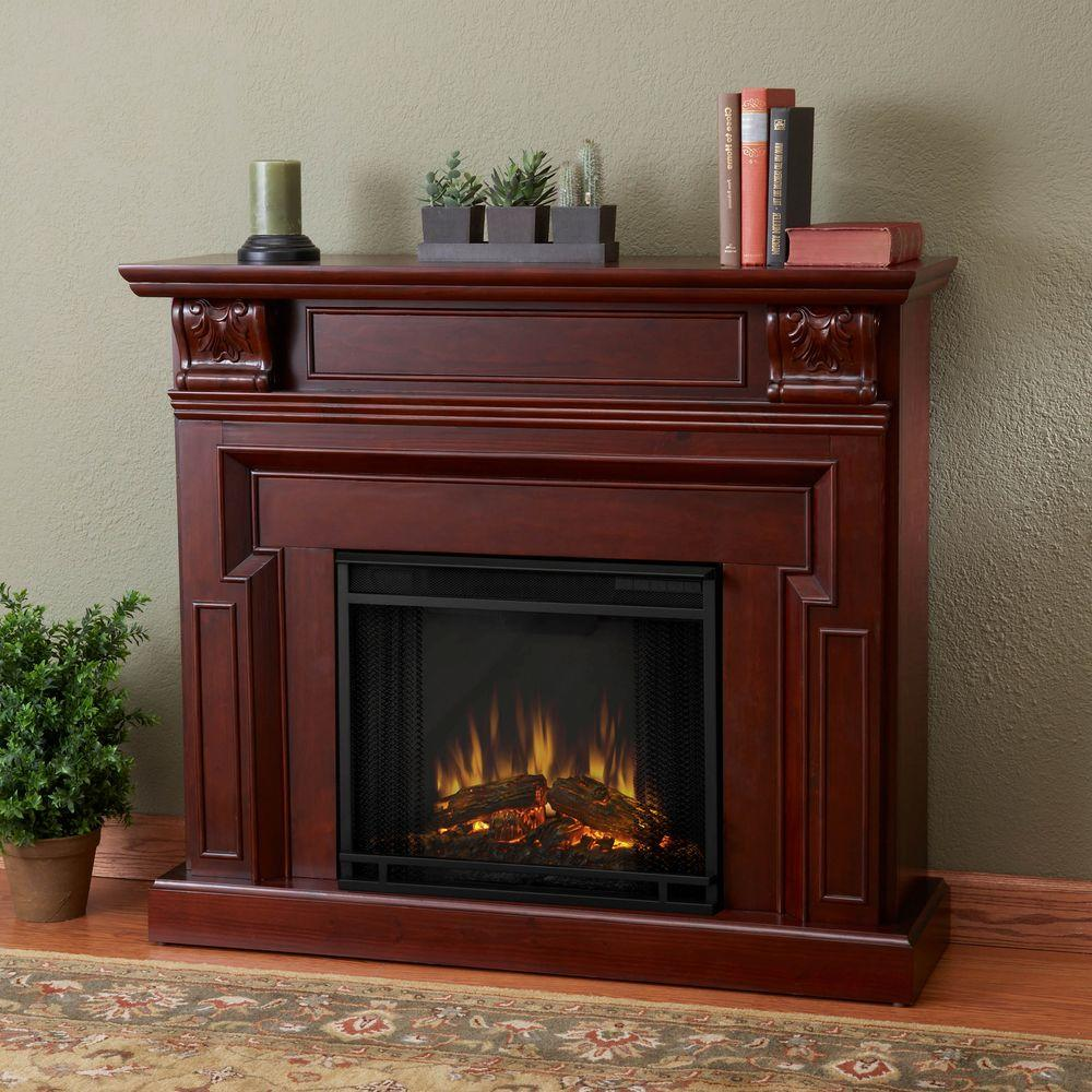 Real Flame Kristine 46 in. Electric Fireplace in Mahogany
