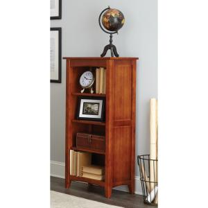 alaterre furniture shaker cottage cherry open bookcase