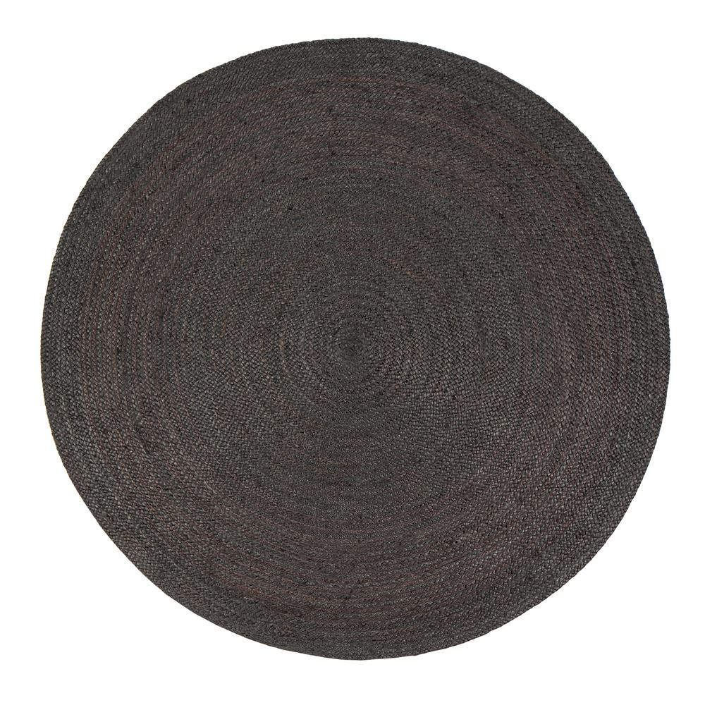 Anji mountain kerala gray 8 ft x 8 ft jute round area rug