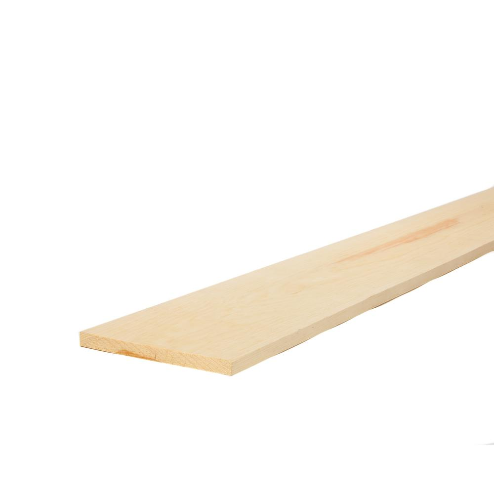 1 in. x 10 in. x 8 ft. Select Kiln-Dried Pine Whitewood Board-489517 ...