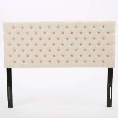 Jezebel Beige Fabric Queen/Full Headboard