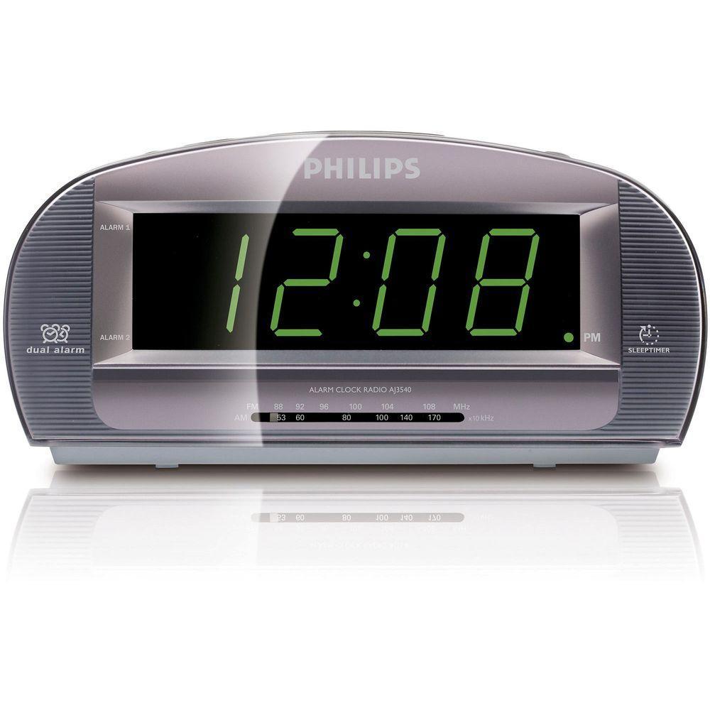 Philips Large Display Alarm Clock AM/FM Radio-DISCONTINUED
