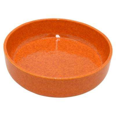 3 in. Orange Ceramic Bowl