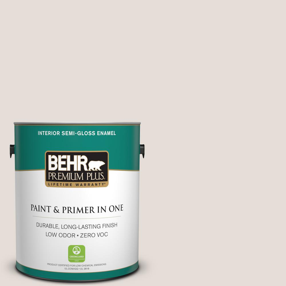 BEHR Premium Plus 1-gal. #T13-2 Empire Porcelain Zero VOC Semi-Gloss Enamel Interior Paint