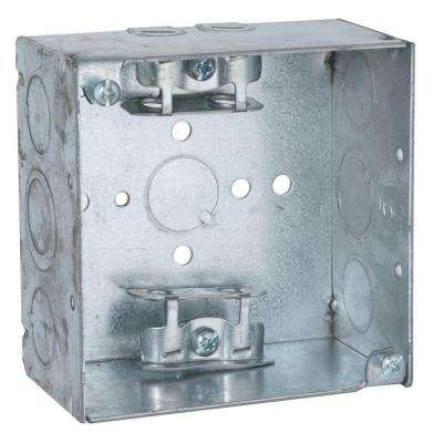 4 in. Square Welded Box, 2-1/8 Deep with 1/2 & 3/4 in. TKO's and Armored Cable/Metal Clad/Flex Clamps (25-Pack)