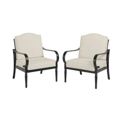 Laurel Oaks Stationary Outdoor Dining Chair with Cushions Included (2-Pack), Choose Your Own Color
