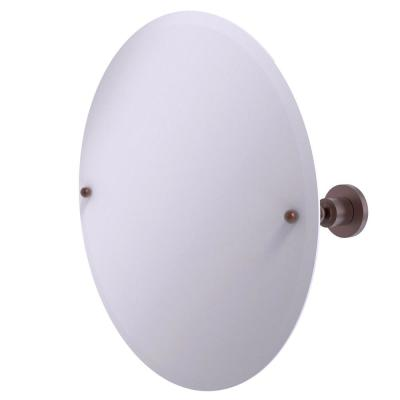 22 in. x 22 in. Astor Place Frameless Round Tilt Mirror with Beveled Edge in Antique Copper