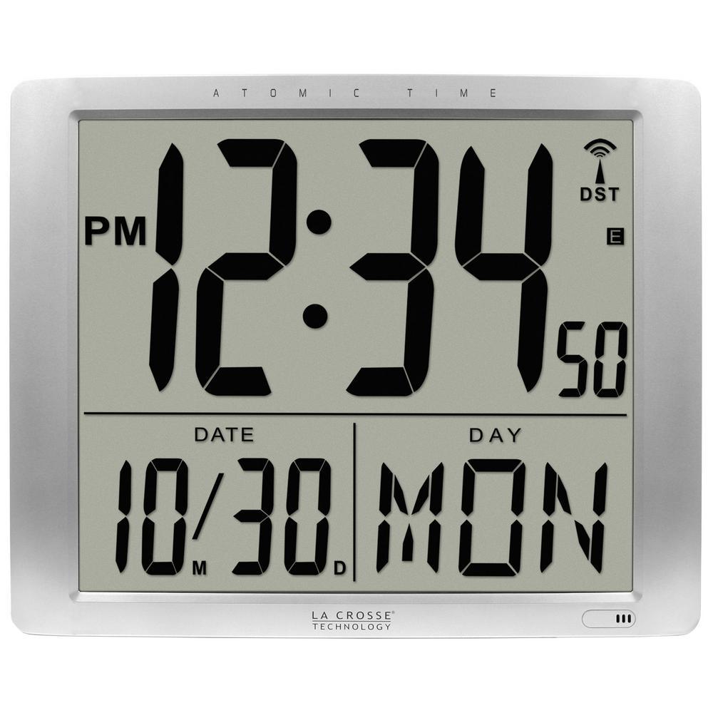 La Crosse Technology 16 in  x 20 in  Super Large Atomic Digital Wall Clock