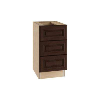 Somerset Assembled 15x28.5x21 in. 3 Drawers Base Desk Cabinet in Manganite