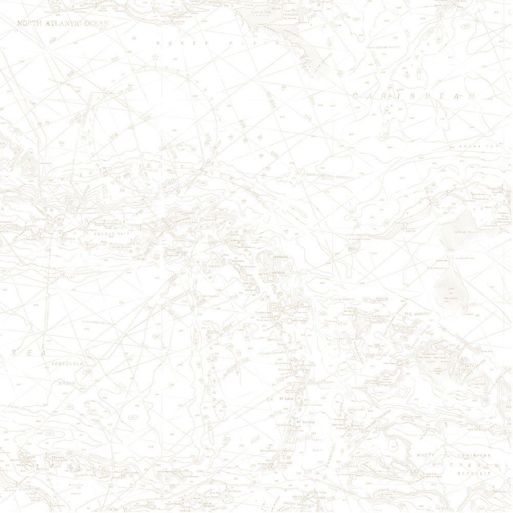 Chesapeake Beckett Beige Scroll Texture Wallpaper Sample