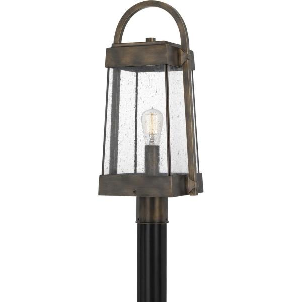 Ellington 1-Light Statuary Bronze Outdoor Post Lantern